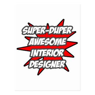 Super Duper Awesome Interior Designer Postcard