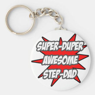 Super Duper Awesome Step-Dad Key Chain