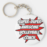 Super Duper Awesome Volleyball Coach Basic Round Button Key Ring