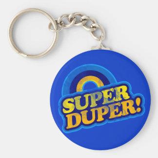 Super Duper! Basic Round Button Key Ring