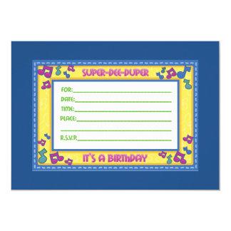 Super duper birthday party invitation design