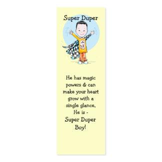 Super Duper Boy Bookmark Pack Of Skinny Business Cards