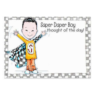 Super Duper Boy Lunchbox Love Note - Pack Of Chubby Business Cards
