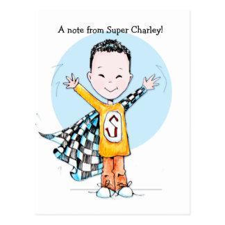 Super Duper Boy post card