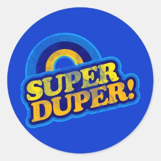 Super Duper! Round Sticker
