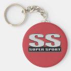 super duper sport red key ring