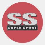 super duper sport red stickers