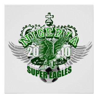 Super Eagles Nigeria football gifts soccer gear Posters
