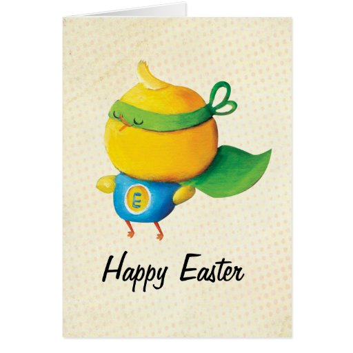 Super Easter Chicken - custom txt - Greeting Cards