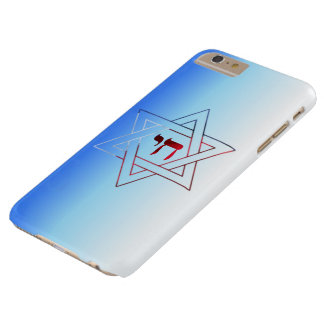Super Elegant Star of David and Chai Barely There iPhone 6 Plus Case