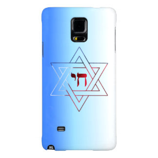 Super Elegant Star of David and Chai Galaxy Note 4 Case
