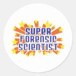 Super Forensic Scientist Classic Round Sticker