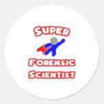 Super Forensic Scientist Round Stickers