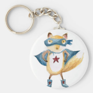 Super Fox! Basic Round Button Key Ring
