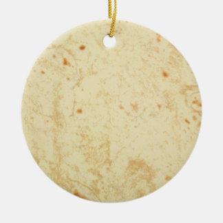 super fresh flour tortilla texture masa bueno christmas ornament
