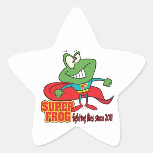 super frog fighting flies since 2011 star sticker
