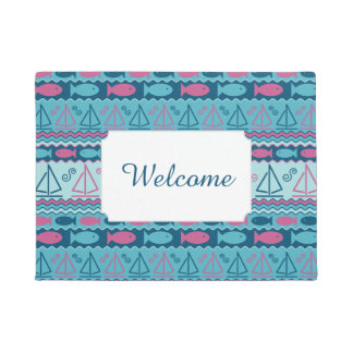 Super Fun Fish And Sailboat Pattern | Add Your Tex Doormat