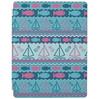 Super Fun Fish And Sailboat Pattern iPad Cover