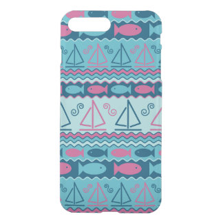 Super Fun Fish And Sailboat Pattern iPhone 7 Plus Case