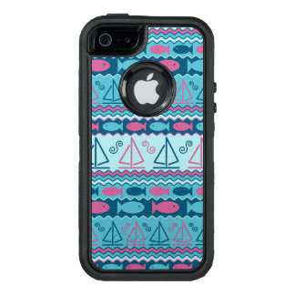Super Fun Fish And Sailboat Pattern OtterBox Defender iPhone Case