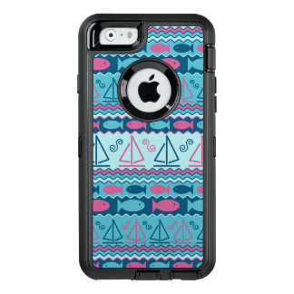 Super Fun Fish And Sailboat Pattern OtterBox iPhone 6/6s Case