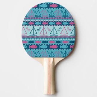 Super Fun Fish And Sailboat Pattern Ping Pong Paddle