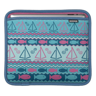 Super Fun Fish And Sailboat Pattern Sleeve For iPads