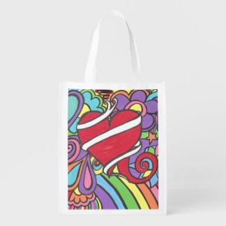 Super Funky Love Tattoo Heart Shopping Bag