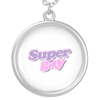 Super Gay Round Pendant Necklace