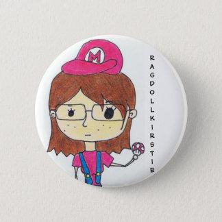 Super Geek Girl 6 Cm Round Badge