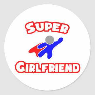 Super Girlfriend Classic Round Sticker