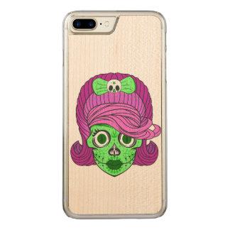 Super Girly Sugar Skull Carved iPhone 8 Plus/7 Plus Case