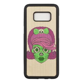 Super Girly Sugar Skull Carved Samsung Galaxy S8 Case