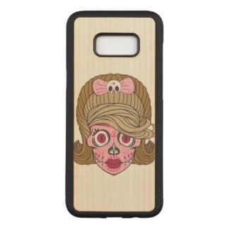 Super Girly Sugar Skull Carved Samsung Galaxy S8+ Case