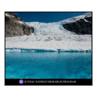 Super glacial lake below the Vaughn Lewis Icefall Poster