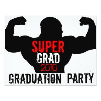 Super Grad Graduation Party Red 1 Invitation