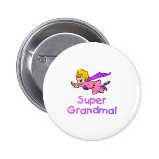 Super Grandma (Flying) 6 Cm Round Badge