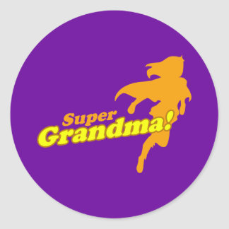 Super Grandma Grandmother Grandparent's Day Sticker