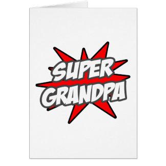 Super Grandpa Greeting Card
