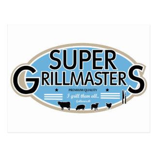 SUPER GRILLMASTERS POSTCARD