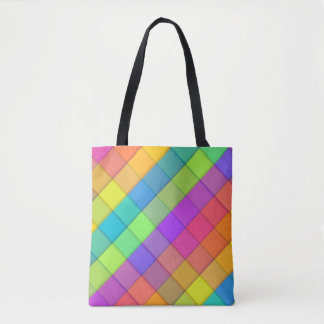 Super Groovy Bright Fun Colorful Tote Bag