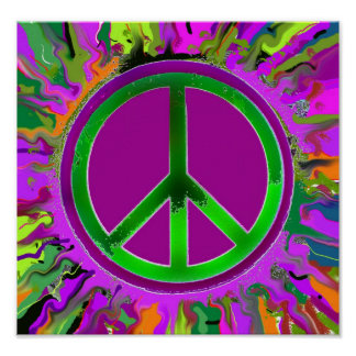 SUPER Groovy Peace Sign Poster