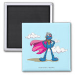 Super Grover Square Magnet