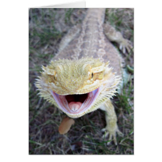 Super Happy Bearded Dragon Greeting Card