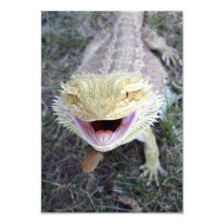 Super Happy Bearded Dragon 9 Cm X 13 Cm Invitation Card