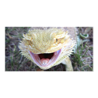Super Happy Bearded Dragon Personalized Photo Card