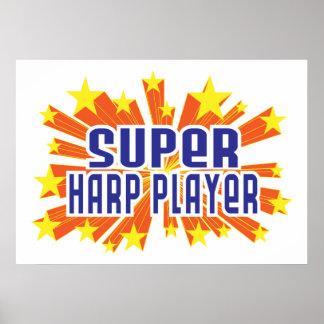 Super Harp Player Print