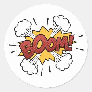 Super Hero Comic Strip BOOM! Stickers