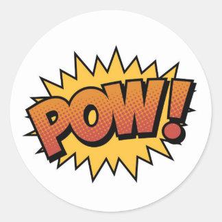 Super Hero Comic Strip POW! Stickers