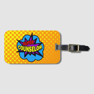 Super Hero Counselor Luggage Tag